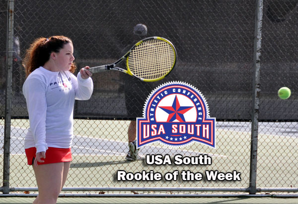 Women's Tennis: Edwards selected as USA South Rookie of the Week