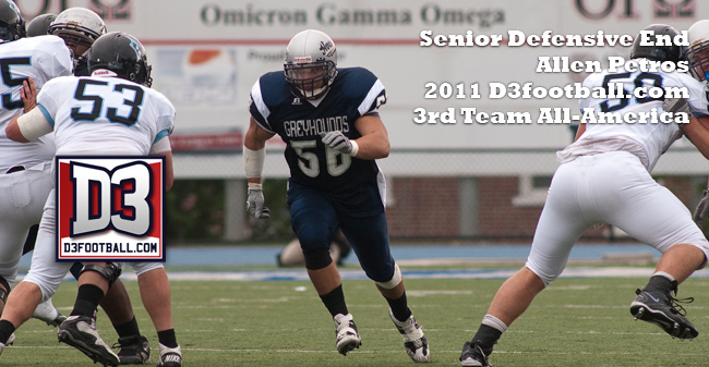 Moravian's Allen Petros Named to D3football.com All-America Third Team