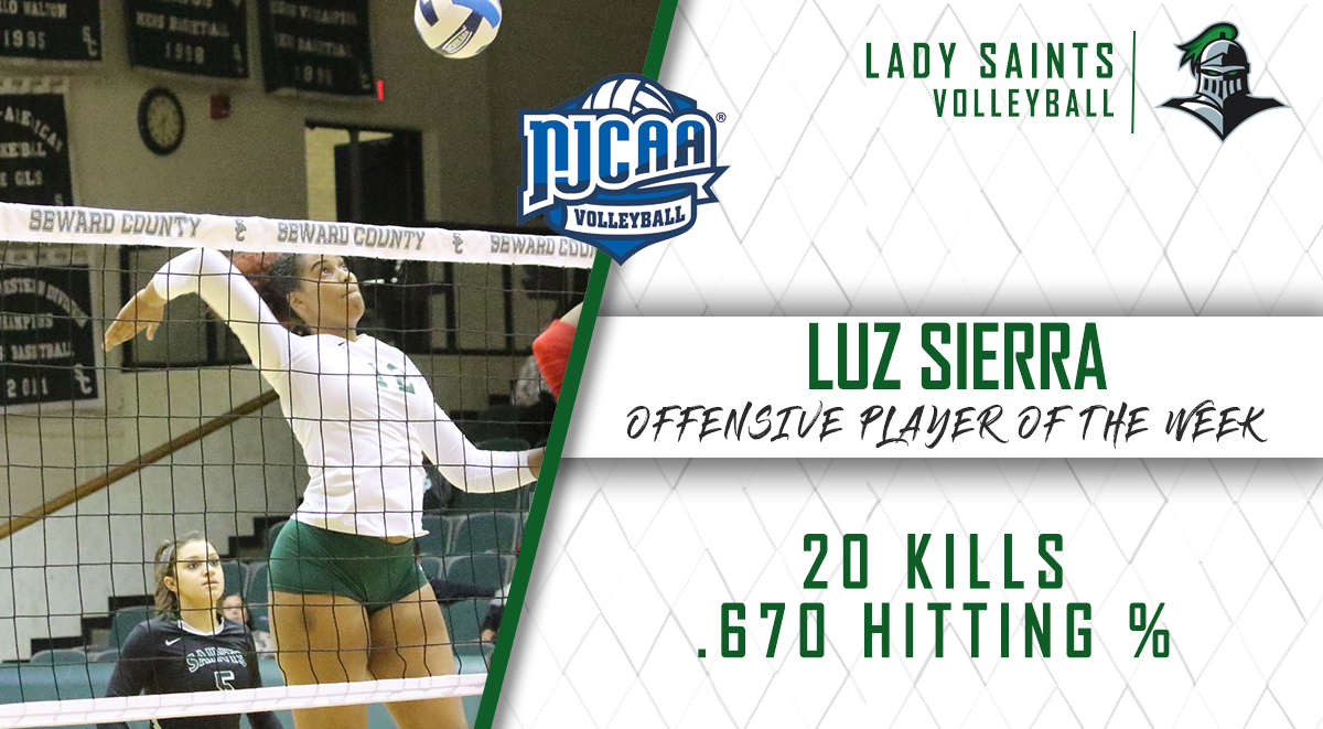 Sierra Tabbed NJCAA Player of the Week for Second Time