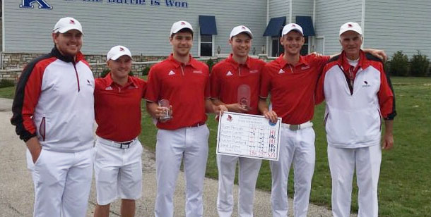 The Cardinals claimed an eight-stroke victory, with Ryan Peruski finishing runner-up...
