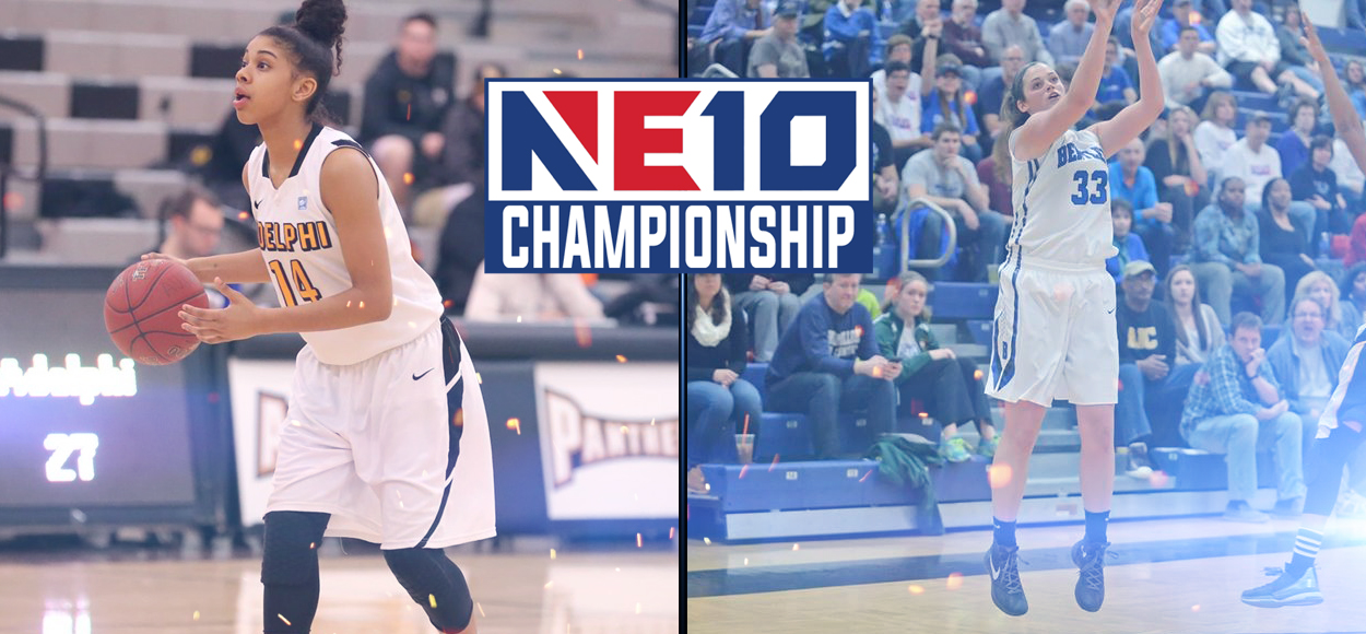 Adelphi, Bentley Advance to Setup Heavyweight Showdown in NE10 Women's Basketball Championship Final