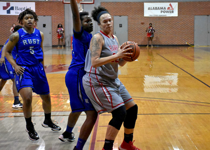 Junior Juliette Harp scored 26 points, pulled down 19 rebounds and blocked three shots to power Huntingdon in a 72-57 win over Salem in the USA South Athletic Conference Tournament on Saturday.