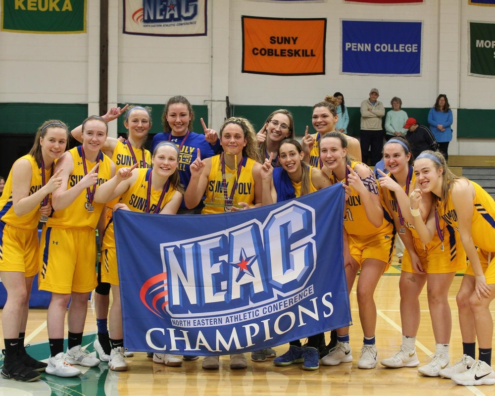 WBB: SUNY Poly Wildcats Win 2019 NEAC Women's Basketball Championship for the Third Time in Four Seasons.