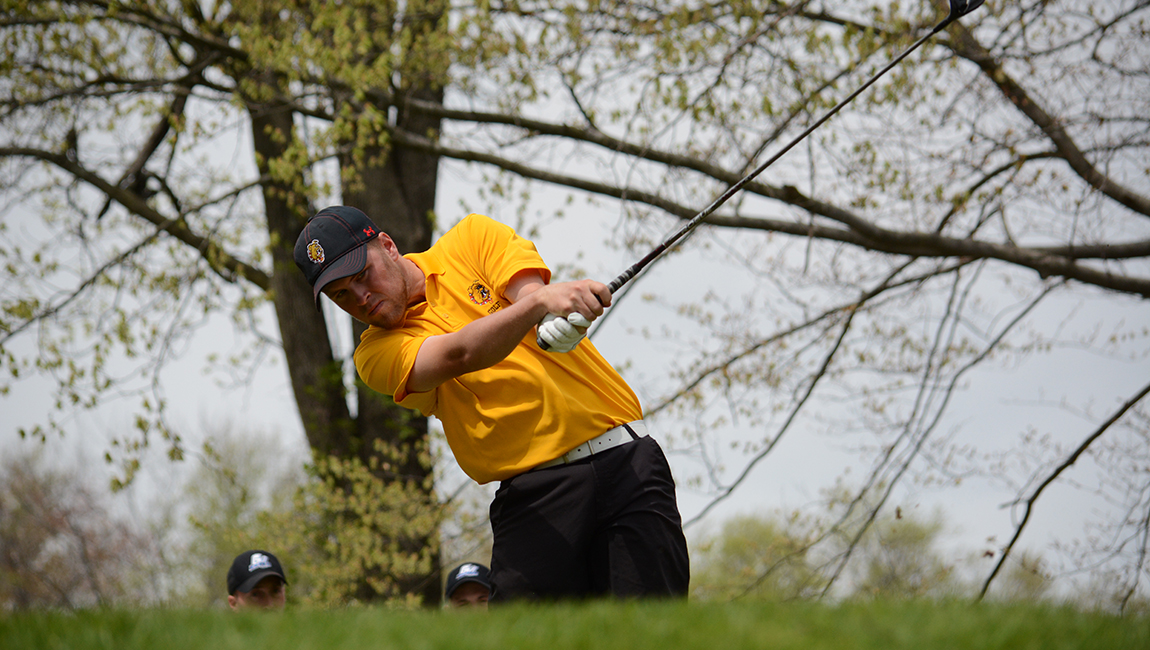 Ferris State Men's Golf Two Shots Off Lead After Two Rounds At GLIAC Championships