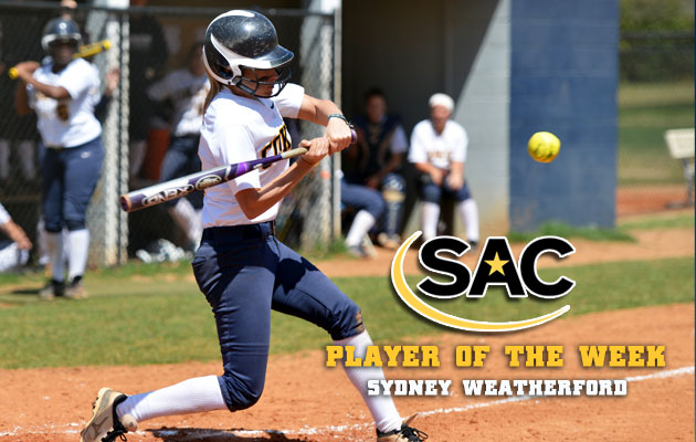 Coker's Weatherford Named SAC Softball Player of the Week