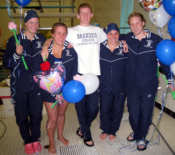 Brandeis Swimming and Diving seniors