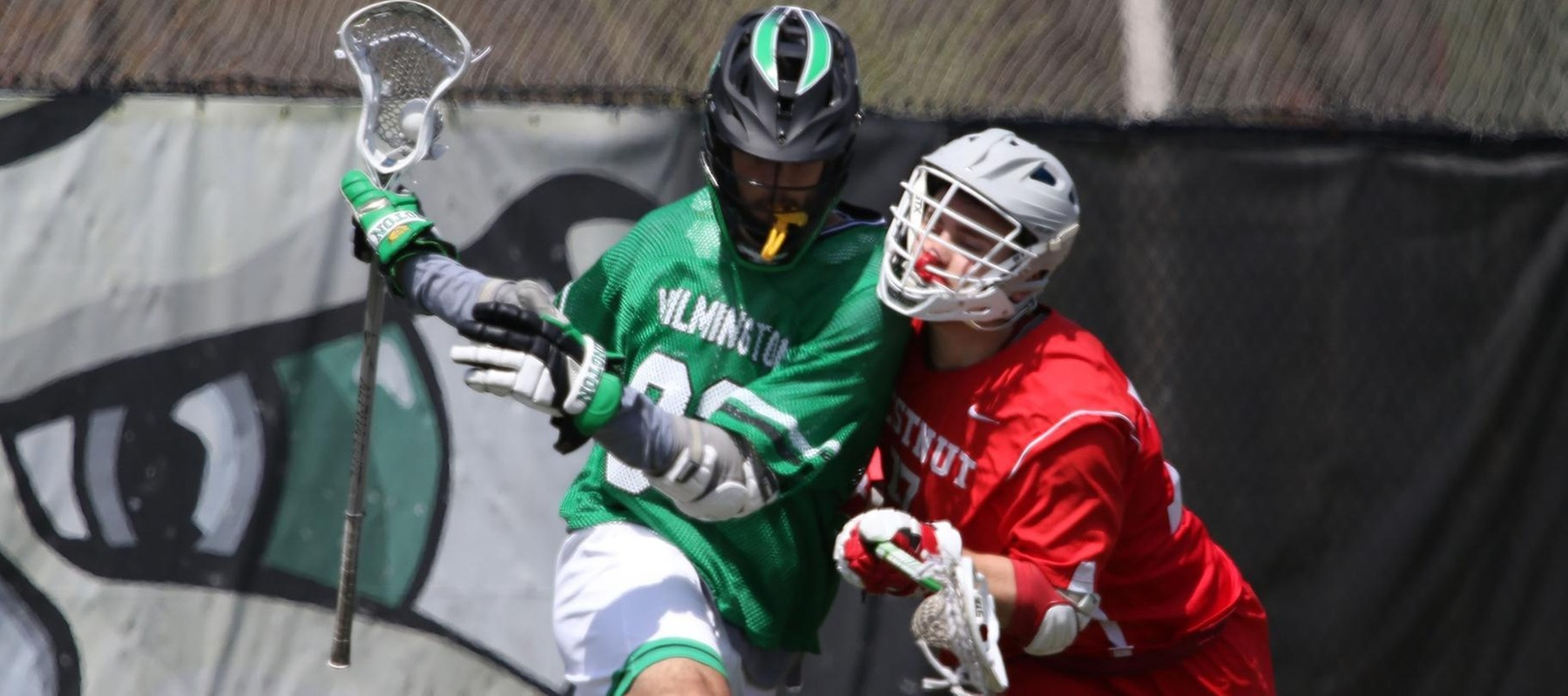 Copyright 2018; Wilmington University. All rights reserved. File photo of Dylan McCleaft who scored twice and added four assists at Montreat. Photo by Frank Stallworth. April 21, 2018 vs. Chestnut Hill.