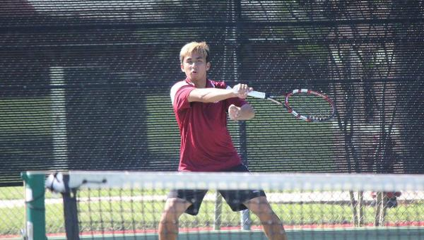 Ambulo Closes Out Career With Win; Men Defeat TLU 5-4 to Place 5th in SCAC
