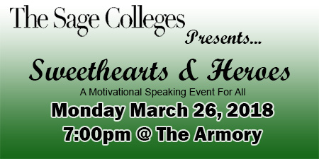 Join Sage on March 26 for the Sweethearts and Hero's Presentation