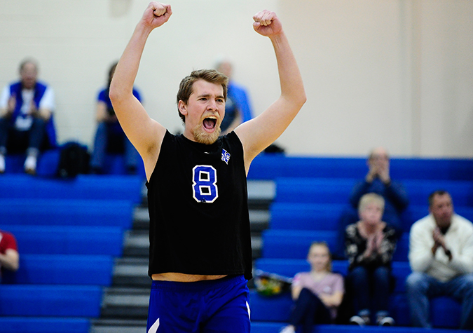 REGULAR SEASON CHAMPIONS: No. 9 Saints down Rutgers to take top seed in CVC Tournament