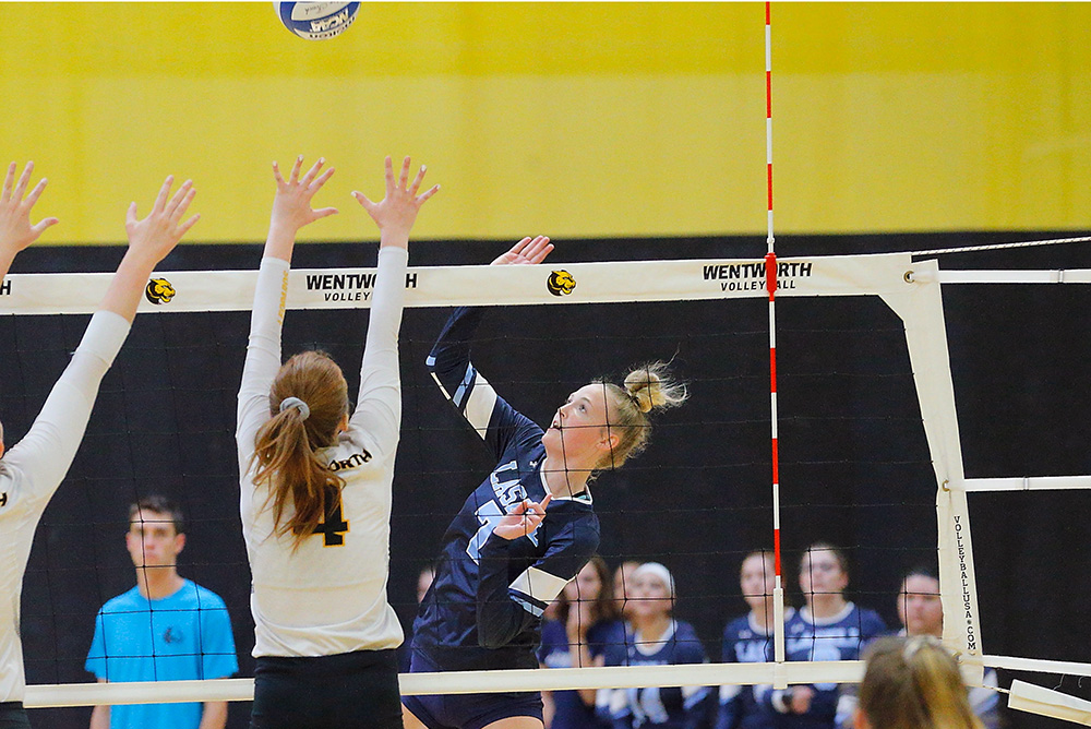 WVB: Lasers split two matches in final day of Skidmore Classic