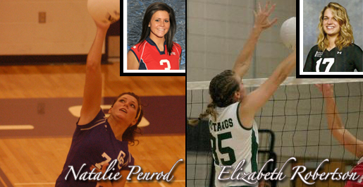 Tech volleyball signs Penrod, Robertson