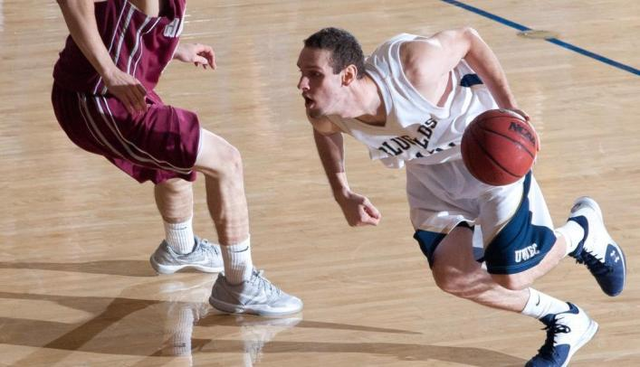 Men's Basketball Beats Stout 55-45 to win Third Straight
