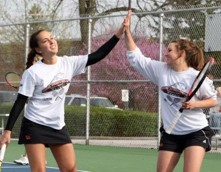 Women's Tennis advances to OAC Tournament Semifinals after 6-0 win against Muskingum