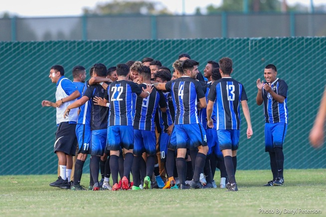 File Photo: Falcon men's soccer celebrates another victory