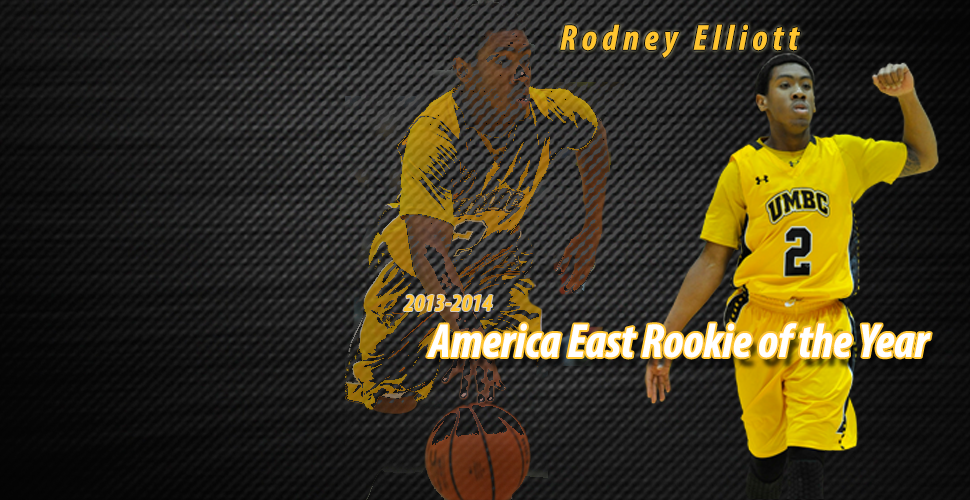 Rodney Elliott Is Unanimous Selection as America East Rookie of the Year