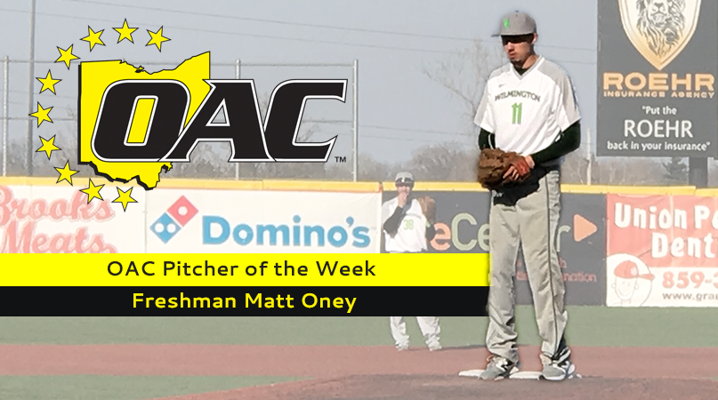 Oney named OAC Pitcher of the Week