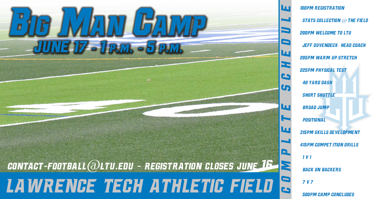 Photo for LTU Football Set For Big Man Camp on June 17 at 1 p.m.