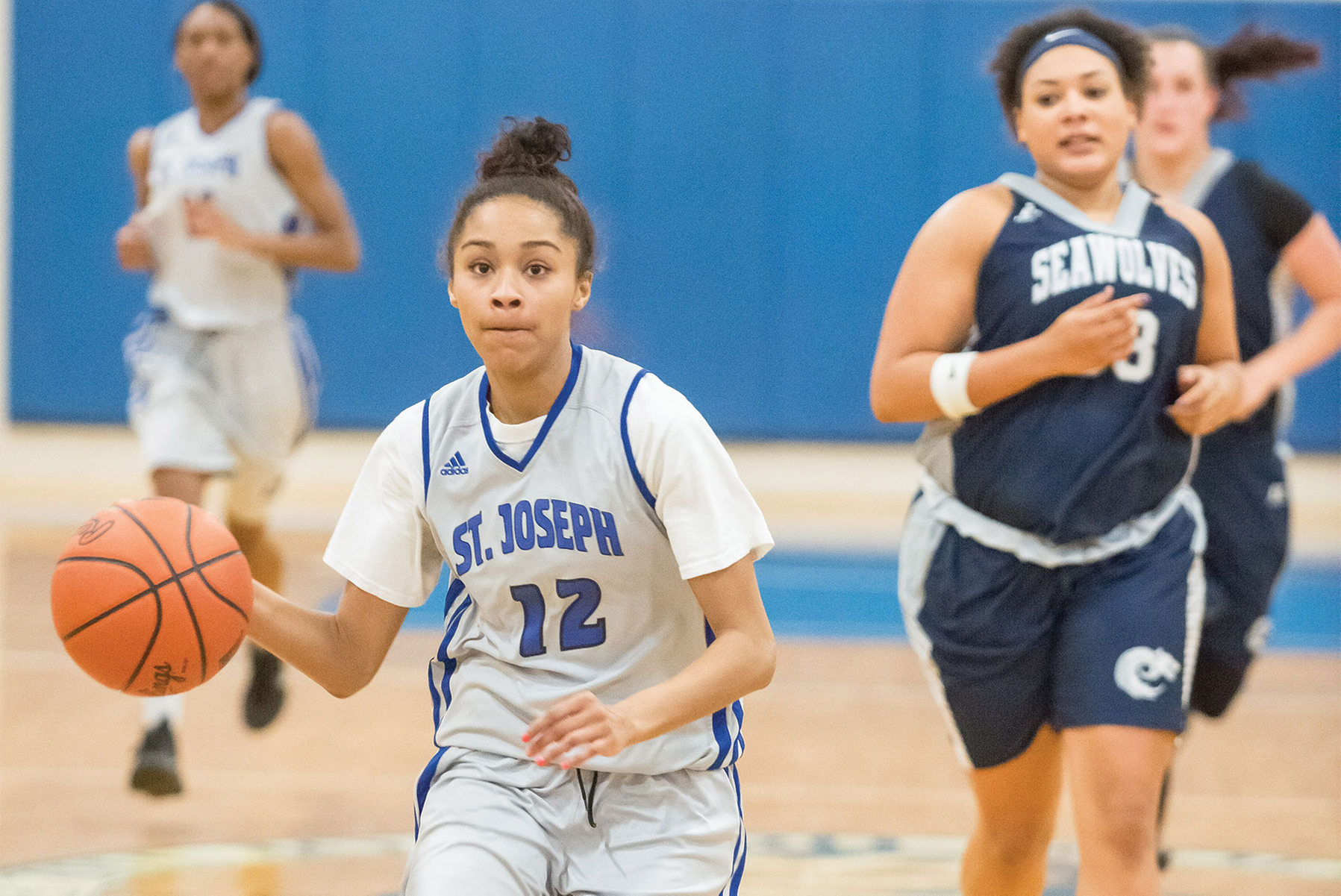 Lady Saints win close game against Southern Maine CC