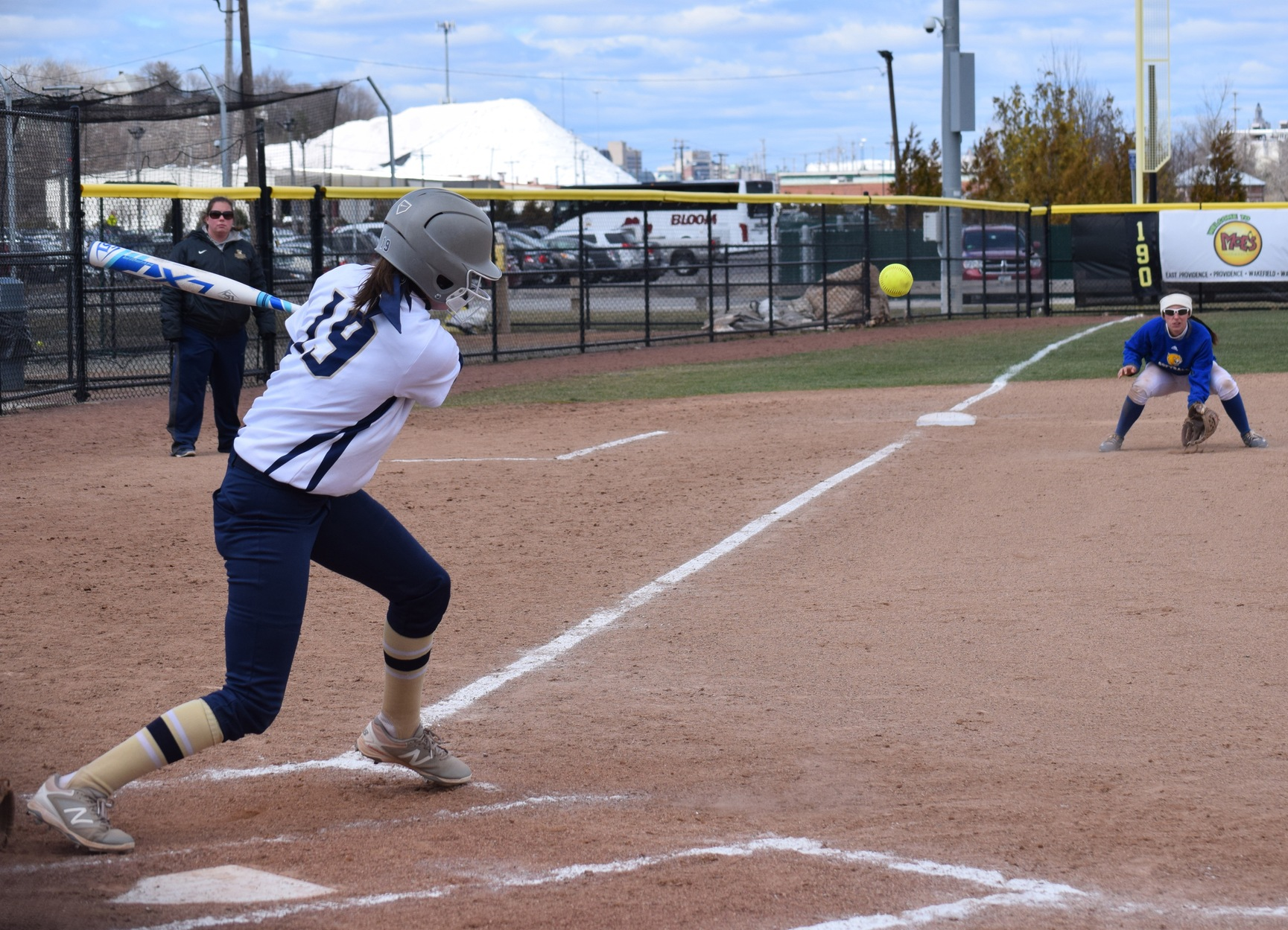 Patriots Day Pits Softball at Rivier