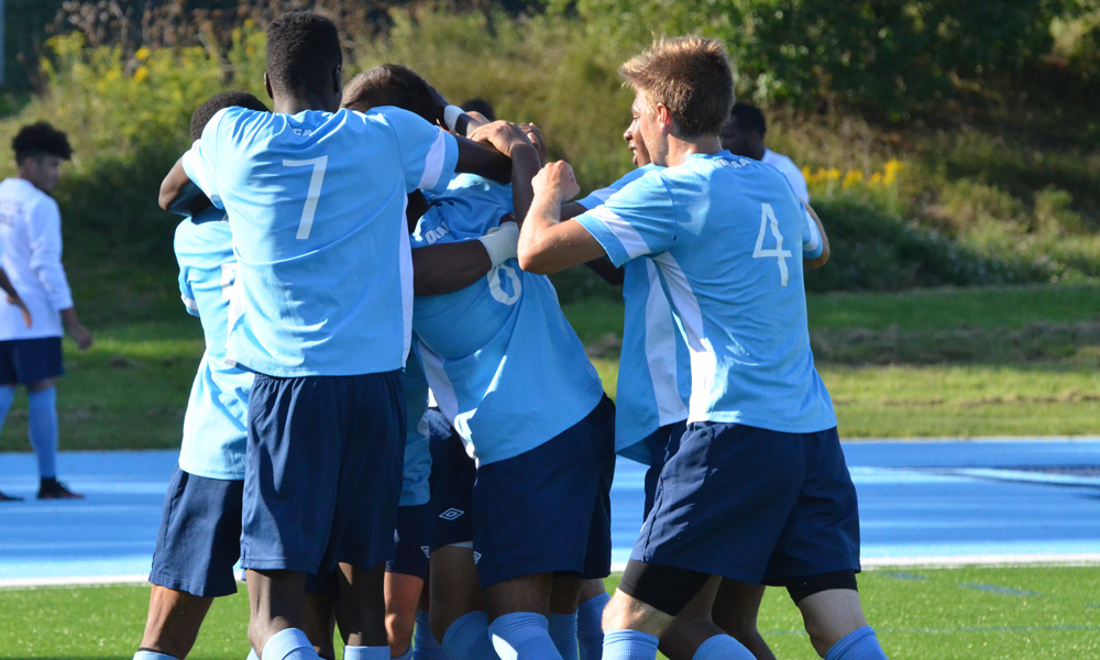 Men's soccer open season with road win