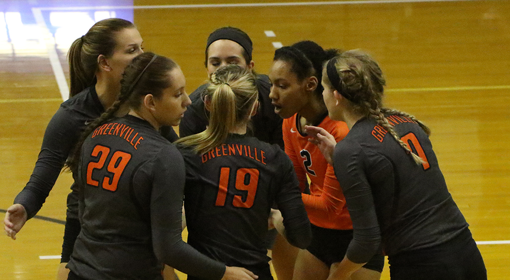 Women's volleyball takes set, falls in four to No. 15 Washington-St. Louis