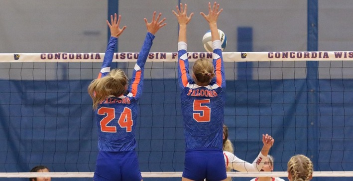 Falcons sweep both opponents to close Pizza Hut Classic