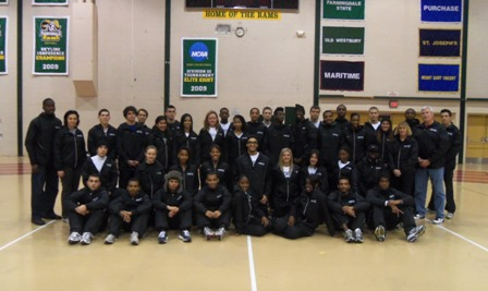 2011-12 Farmingdale State Men's and Women's Indoor Track Team