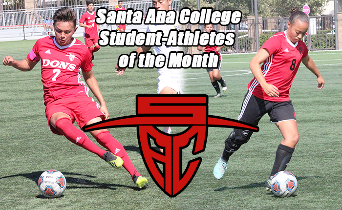 Gomez and Wood Receive Santa Ana Student-Athlete of the Month Honors