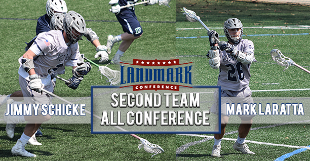 Mark Laratta '19 and Jimmy Schicke '20 named to Landmark All-Conference Second Team.