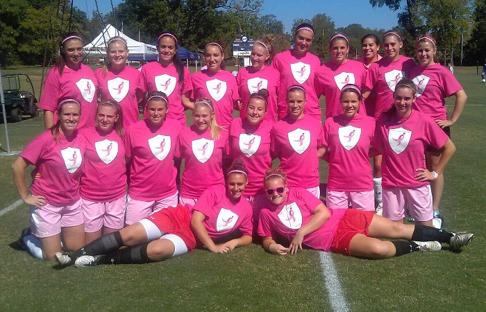 Women's Soccer Raises $2,094 on Pink Day