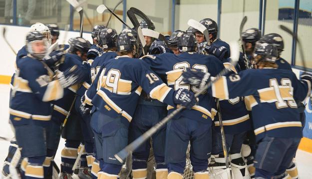 No. 8 Men's Hockey ties 2-2 with No. 4 Pointers in game one of WIAC Semifinals