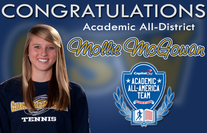 McGowan Earns Academic All-District Honors