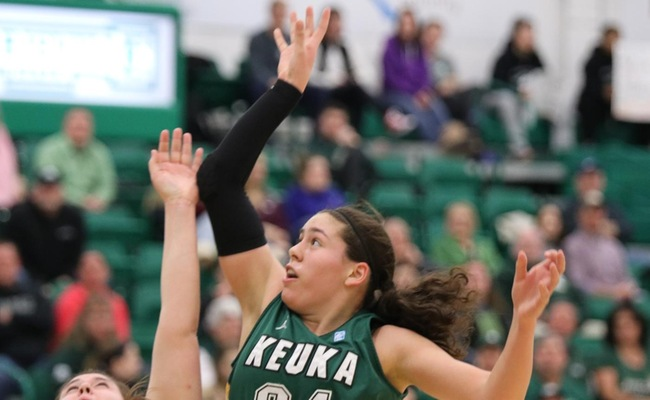 Lauren Anten (24) scored a career-high 24 points for Keuka College