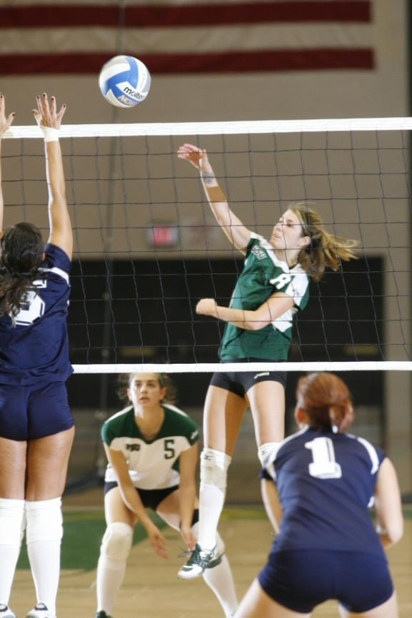 Volleyball Splits in Season Opener