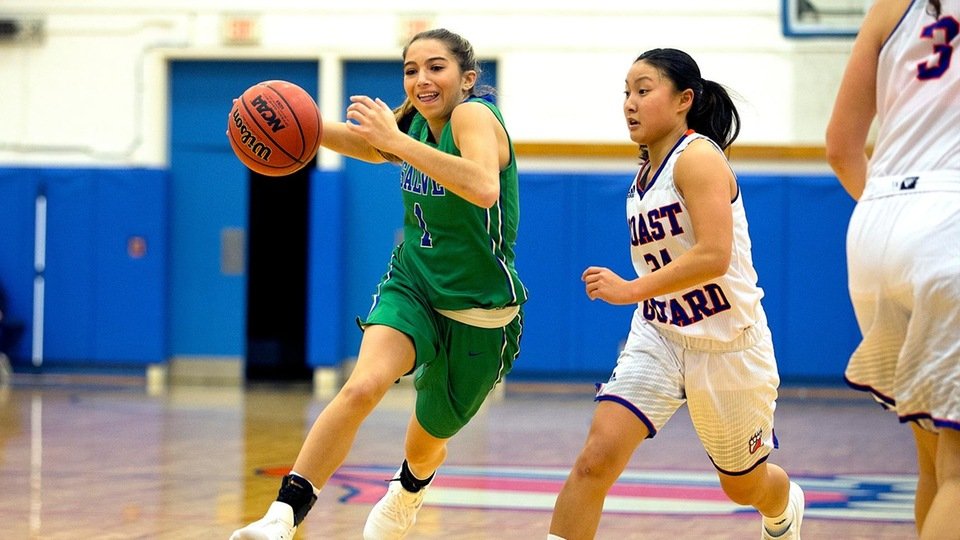 Torie Scorpio was only player scoring in double figures (15 points) in a 42-point victory for Salve Regina at Wentworth. (Photo by Rob McGuinness)
