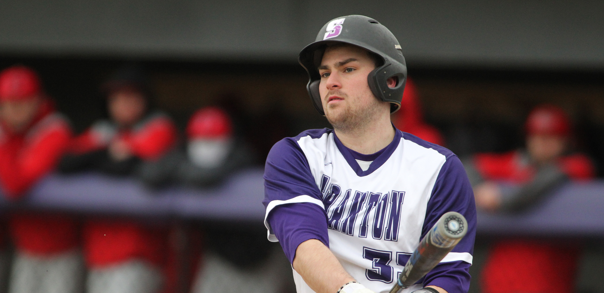Senior Ian McIntosh went 2-for-4 with two doubles and scored a pair of runs in Scranton's loss to Eastern Connecticut State. © Photo by Timothy R. Dougherty / doubleeaglephotography.com