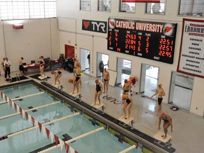 Women's swimming honored for academics