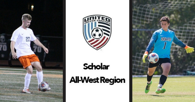 Two Named USCA Men's Soccer Scholar All-West Region