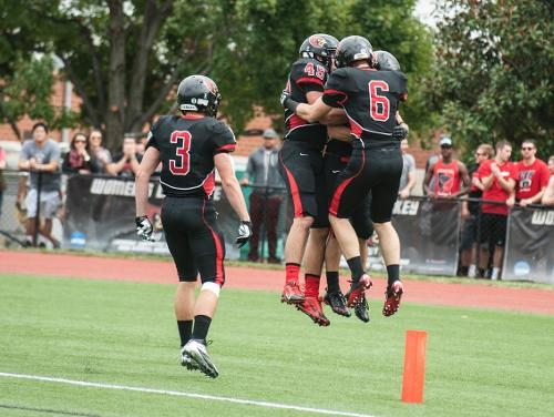 CUA Football Defeats Guilford 38-29 on Senior Day