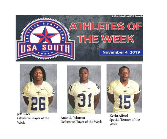 Football Sweeps Athlete of the Week Awards