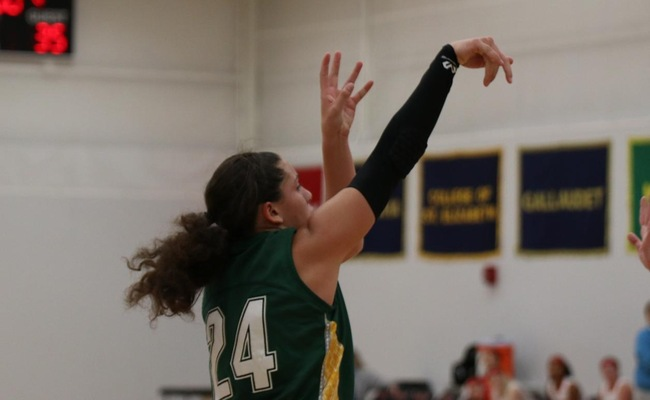 Lauren Anten (24) led Keuka College with 22 points on Saturday
