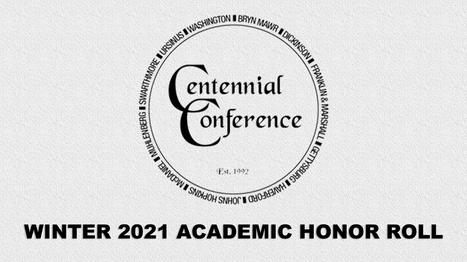 Centennial Conference Announces 2021 Winter Academic Honor Roll