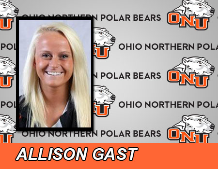 Junior Allie Gast leads Women's Track & Field on Day 1 of the OAC Outdoor Championships