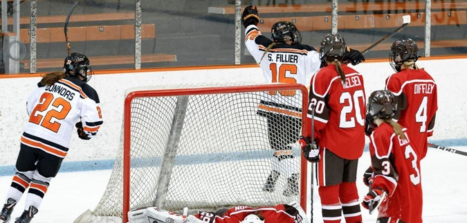 Fillier nets natural hat trick as Princeton beats St. Lawrence, leads series 1-0