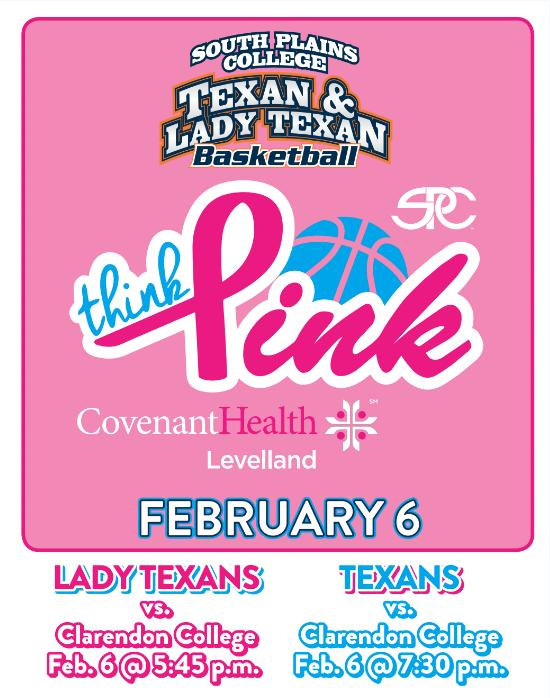 #1 Lady Texans, Texans host Clarendon Thursday on Think Pink Night at the Texan Dome
