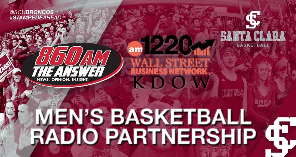 Santa Clara Athletics Agrees to Multiyear Men's Basketball Radio Deal