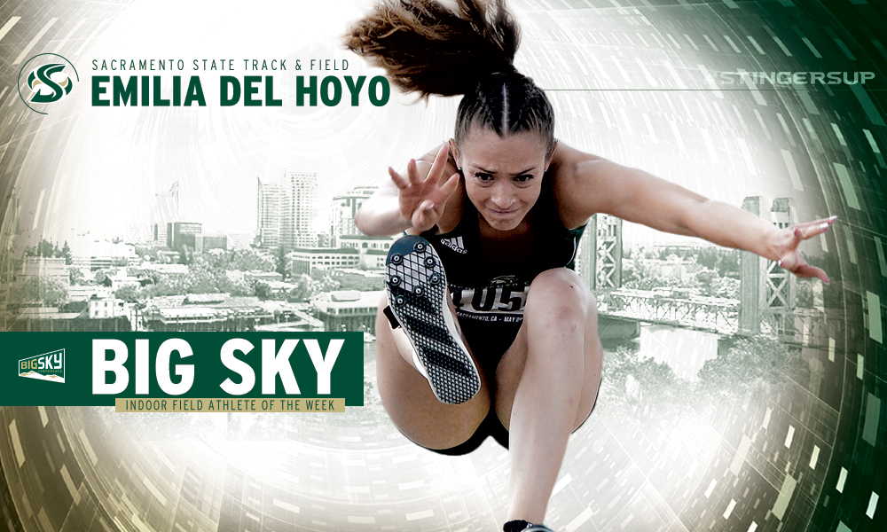 EMILIA DEL HOYO EARNS BIG SKY WOMEN'S INDOOR FIELD ATHLETE OF THE WEEK