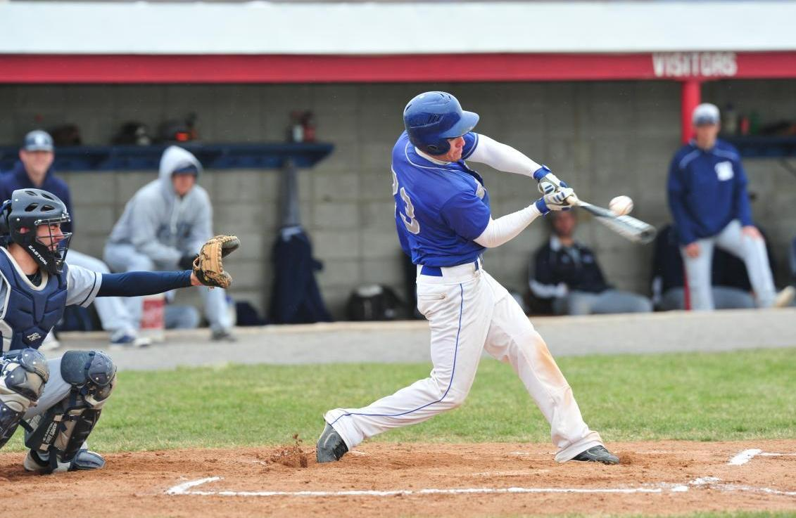 Senior Dan Orza broke the program record for career runs batted in with two RBI on the day.
