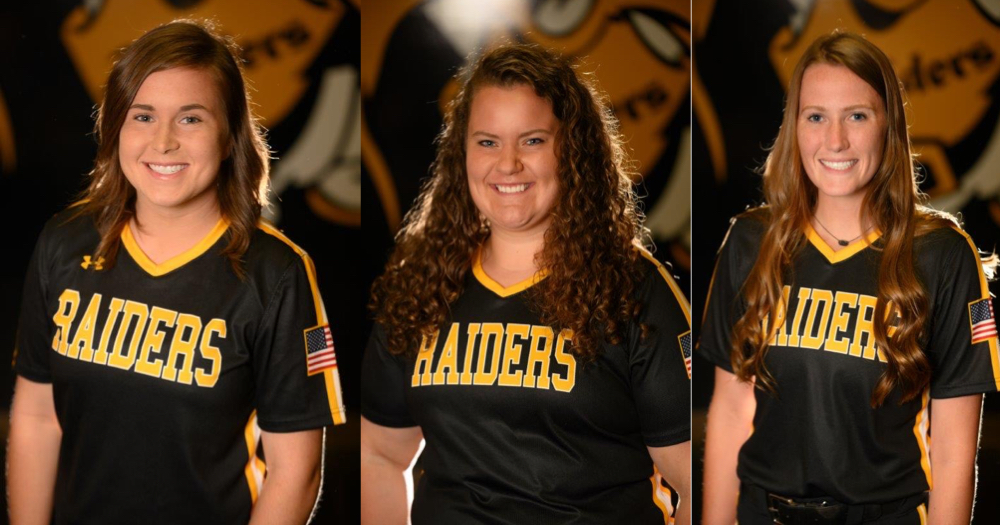 Lady Raiders softball trio signs with four-year schools